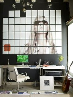 Foto mural creado a partiendo tu foto en un montón de piezas más pequeñas. ¿Te animas a hacerlo con tu foto?