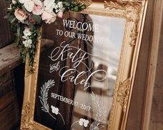 These crystal clear acrylic plexiglass signs add beautiful sparkle and detail to your wedding or event. They are lightweight, unbreakable and are painted with permanent ink. Please note you are gettin Intimate Weddings, Unique Weddings, Small Intimate Wedding, Small Weddings, Disney Weddings, Signs For Weddings, Church Weddings, Black Weddings, Backyard Weddings