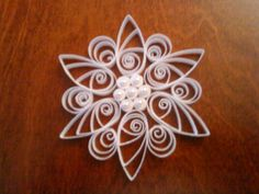 My preparation Quilling Images, Paper Quilling, Simple Snowflake, Snowflake Designs, Snowflakes, Fancy, Stitch, Crafts, Card Stock