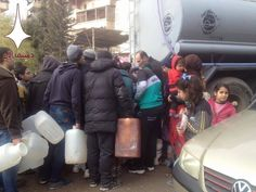No water for MILLIONS of Syrians for days thanks to January 2017 Al Qaeda, Sports And Politics, January, Winter Jackets, Thankful, Water, Winter Coats, Gripe Water, Winter Vest Outfits