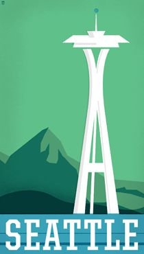 The Heads of State travel posters. Really diggin' this travel poster series. Here's one of my city :)