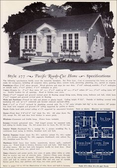 1925 Pacific Ready Cut Homes - California Cottage - Eclectic Colonial 625 sq ft!