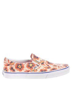 Classic orange floral slip-on sneakers Sale - Vans Sale