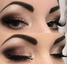 smokey eyeshadow... for the record my eyebrows will never be this arched... but i love the smoke look