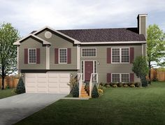 Custom Home Floor Plans: The Brighton Split-Level | Wayne Homes ...