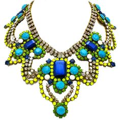Athens Hand Painted Statement Necklace