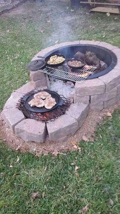 35 backyard landscaping ideas on a budget 21 - Diy garden decor, Backyard fire, Backyard . Cheap Fire Pit, Diy Fire Pit, Fire Pit Backyard, Backyard Fireplace, Outdoor Fireplaces, Fire Pit Grill, Small Garden Fire Pit, Cheap Outdoor Fire Pit, Propane Fireplace