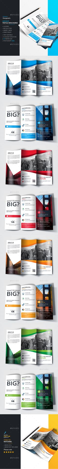 Arco Trifold Brochure  Brochure Template Brochures And Corporate