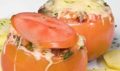 Receta de Tomates gratinados con salmón