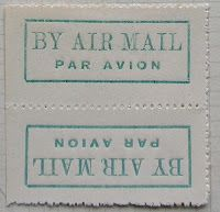 International Airmail And Priority Mail Labels: St. Vincent: Airmail labels