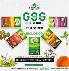 A combinação Tulsi + Chá Verde contém ingredientes naturais, para o seu bem estar. Vários estudos científicos atestam que o chá verde contém polifenóis, flavonoides e proantocianidinas, os quais reforçam a acção antioxidante significativa de Tulsi (Ocimum sanctum). Disponível em 5 deliciosas e aromáticas blends. Beba e desfrute! #organicindia #organicindiaportugal #zurcetraud #zurcetraudbio #infusoestulsibio