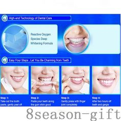 Teeth Whitening Beauty & Health Humor 6pcs 44% Professional Teeth Whitening Kit Bleaching System Bright White Smiles Teeth Tray Teeth Whitening Gel Kit With Led Light Be Friendly In Use