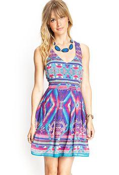 Southwestern Print Crossback Dress | FOREVER21 #F21Contemporary