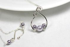 silver Wire Jewelry | Pearl Necklace Wire Wrapped Jewelry Handmade Sterling Silver Jewelry ...