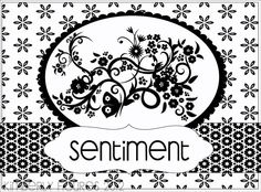 patterned paper, stamped sentiment, stamped image, or cut out photo, matted.