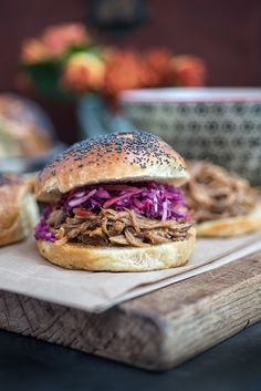 lazy slow cooker pulled pork with red cabbage slaw   supergolden bakes.