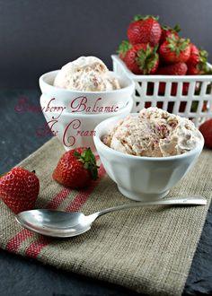 Authentic Suburban Gourmet: Strawberry Balsamic Ice Cream
