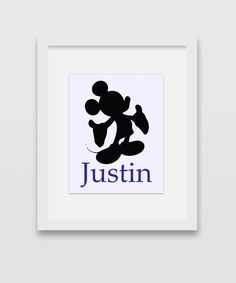 Personalized Mickey Mouse 8x10 Silhouette by CleopatrasPearls