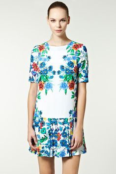 Placement floral drop waist dress - awesome for #summer