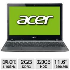 "Tigerdirect Computer Deal Acer C710 11.6"" Celeron 320GB HDD Chromebook $199.99 Computer Deal"