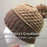 Moss Stitch Beanie by Meladora's Creations