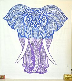 Jaipurhandloom Elephant Tapestry Decor Blanket Wall art Bohemian Elephant Tapestries Psychedelic Wall Hanging Elephant Tapestry Indian Tapestry Wall Hanging (Blue & Purple, 84X89 inches) Jaipur Handloom http://www.amazon.com/dp/B01BGI0OUK/ref=cm_sw_r_pi_dp_WemYwb1ZNJS8T