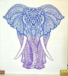 Jaipurhandloom Elephant Tapestry Decor Blanket Wall art Bohemian Elephant Tapestries Psychedelic Wall Hanging Elephant Tapestry Indian Tapestry Wall Hanging (Blue & Purple, 84X89 inches) Jaipur Handloom http://www.amazon.com/dp/B01BGI0OUK/ref=cm_sw_r_pi_dp_WemYwb1ZNJS8T