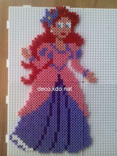 Ariel en robe de soirée - perles hama par DECO.KDO.NAT