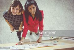 Stock Photo : Architect women at work at startup office
