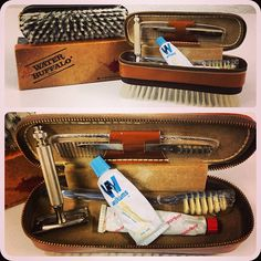 Travel Brush Kits and contents from the 50s-60s #ThrowbackThursday #tbt