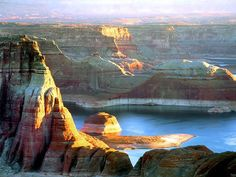 Lake Powell, Utah.  Spent a few really fun days on a houseboat here once.