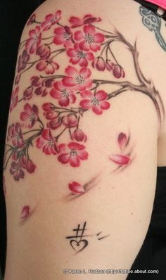Tattoo Photos From the Hell City Tattoo Fest (2010 - Columbus, Ohio): Cherry Tree Branches and Blossoms