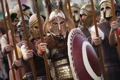 The Spartans were by now very close – a veritable mass of bronze and crimson behind a storm of spears. It was a sight at once awesome and terrifying