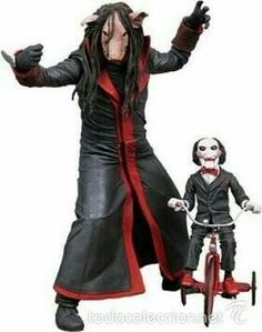 Figura - Muñeco SAW Jigsaw Killer serie 5 - puppet and tricycle - Neca Toys Ghost Movies, Horror Movies, Horror Action Figures, Action Toys, Jigsaw Movie, Jigsaw Saw, Spawn Comics, Creepy Masks, Living Dead Dolls