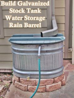 This step by step tutorial of how to build galvanized stock tank water storage rain barrel to store rainwater to be reused in the garden. While helping red