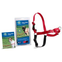 "15-20""; girth, Designed to gently discourage dogs from pulling while walking on a leash. Unlike traditional collars, this harness never causes coughing, gagging or choking because the chest strap rests low across the breastbone."