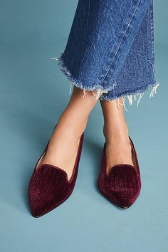 Bisue Ballerinas Velvet Embossed Loafers #ad