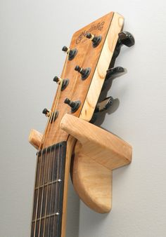 Acoustic Guitar Hanger  Ambrosia Maple by holobox on Etsy, $29.95