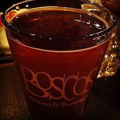 locally brewed Boscos beer