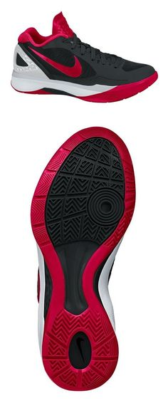 $124 - NIKE ZOOM Volley Hyperspike, Black/Gym Red-Metallic Silver-White, 10.5 B(M) US #nike