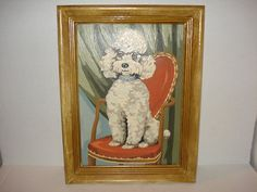 So Cute 1950's POODLE Sitting in Chair by PastPossessionsOnly, $19.95