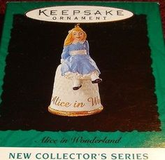 "1995 Hallmark ""ALICE IN WONDERLAND"" Miniature THIMBLE Ornament - NIB MINT"