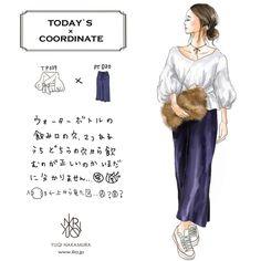 当店取り扱い商品で秋の着回しコーデ特集7日目♡異素材ベロアパンツx爽やかシャツでメリハリコーデ♡こちらのボリュームスリーブシャツは在庫わずかとなっておりますのでお気をつけ下さい〜✨✨#のっぽコーデ部#お洒落さんと繋がりたい#yuqinakamura#シンプルコーデ#fashion#ファッション#design#art#creative#大人女子 #casualstyle#illustration#drawing#コーディネート探検隊 #イラスト#アート#liia#リーア#lifeisart#fashionillustration#art #ボリュームスリーブ#ベロアパンツ#コンバース#ファーバッグ#チョーカー#tp039#tp020