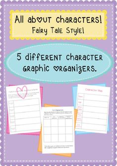 character analysis- graphic organizers *Freebie* from  While Teaching Lilly...  on TeachersNotebook.com -  (6 pages)  - Fairy tale character analysis charts, fractured fairy tale character planning maps, evil character chart, & compare & contrast characters!