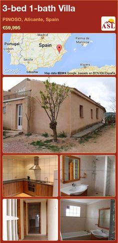 3-bed 1-bath Villa in PINOSO, Alicante, Spain ►€59,995 #PropertyForSaleInSpain