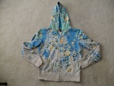 Lucky Brand Blue Floral Hoodie.