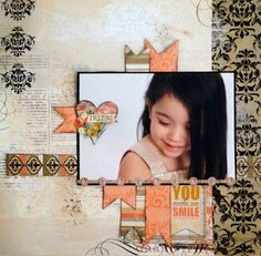 Oct. 2013 My Creative Scrapbook Main kit . Visit the site at MyCreativeScrapbook.com to see all the layouts made with this kit