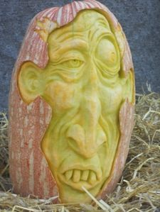 Pumpkin carving by Pam Leno