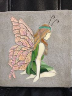 Butterfly fairy stained glass mosaic garden by StepsInStone