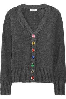 SONIA BY SONIA RYKIEL  Jewel-buttoned knitted cotton cardigan
